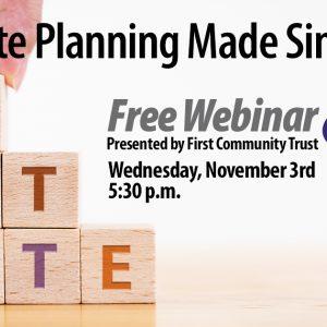 Estate Planning Webinar